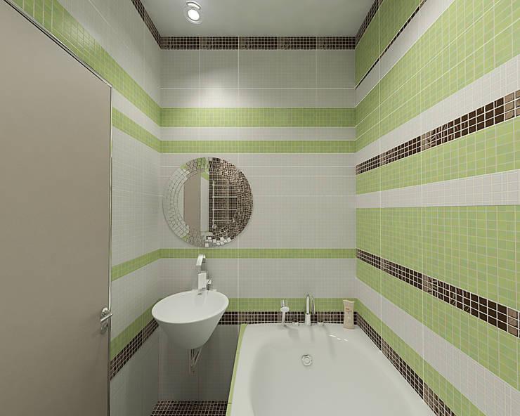 современный интерьер: Ванные комнаты в . Автор – студия Виталии Романовской, Минимализм
