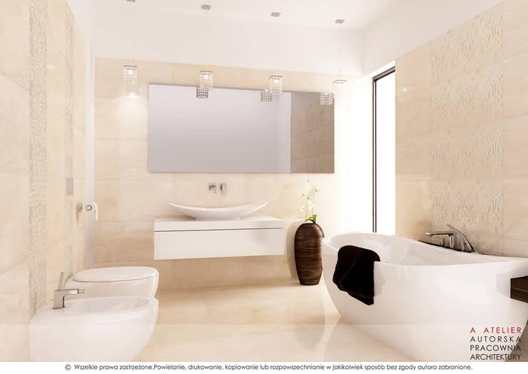 Łazienka: styl , w kategorii Łazienka zaprojektowany przez A  ATELIER, Autorska Pracownia Architektury Artur Turant
