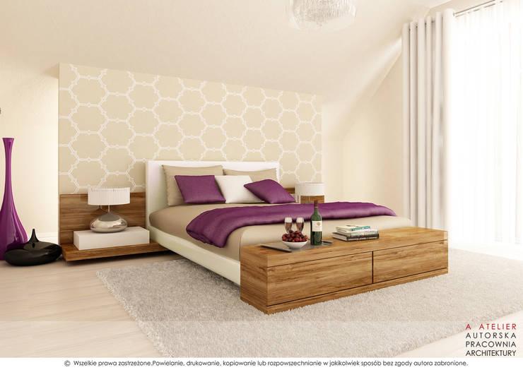 Sypialnia: styl , w kategorii Sypialnia zaprojektowany przez A  ATELIER, Autorska Pracownia Architektury Artur Turant