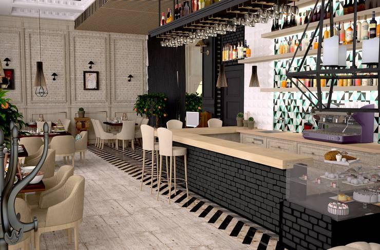 Кафе в г.Волжский: Ресторации в . Автор – DS Fresco