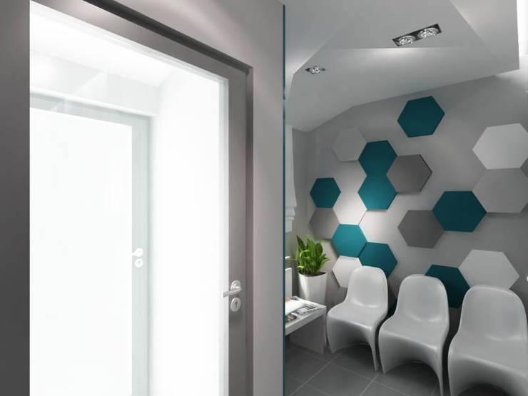Flow 2.0 w gabinecie stomatologicznym - poczekalnia: styl , w kategorii Kliniki zaprojektowany przez FLUFFO fabryka miękkich ścian,Nowoczesny