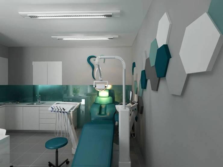 Flow 2.0 w gabinecie stomatologicznym: styl , w kategorii Kliniki zaprojektowany przez FLUFFO fabryka miękkich ścian,Nowoczesny