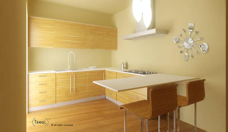 Cucina Minimalista appartamento privato: Cucina in stile in stile Minimalista di TEXAL di Bernecoli Matteo