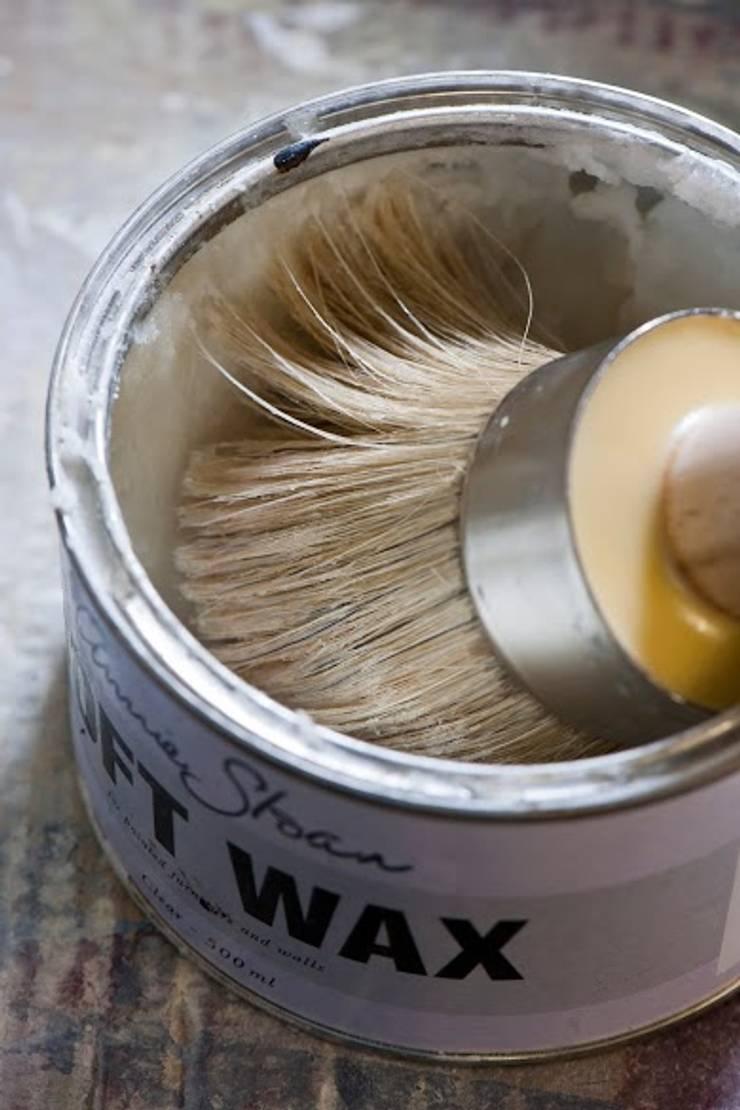 Annie Sloan Soft Wax Clear:  Woonkamer door Bij Sigrid