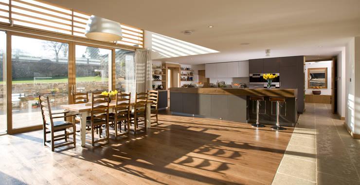 Le Camptrehard:  Kitchen by JAMIE FALLA ARCHITECTURE