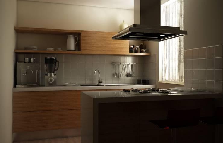 RENDER CUCINA: Cucina in stile  di Antonio pellegrino, Moderno