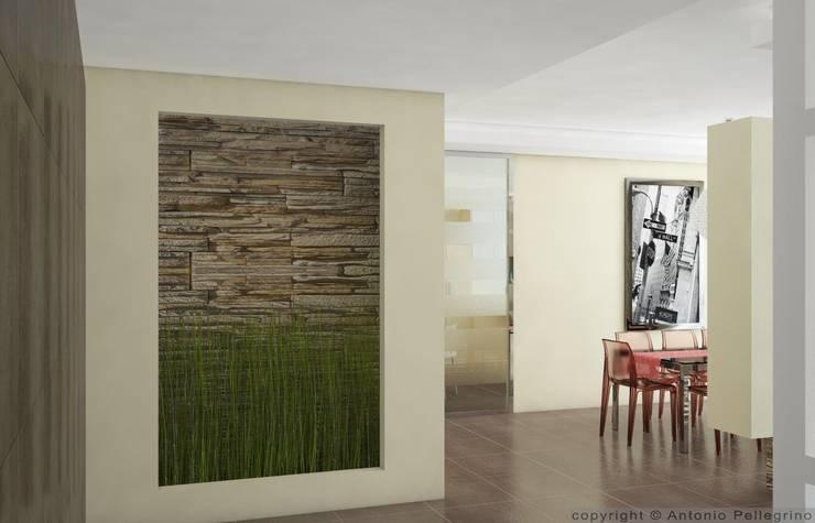 RENDER DI INTERNI: Ingresso & Corridoio in stile  di Antonio pellegrino