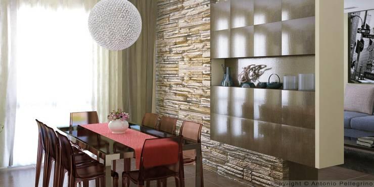 RENDER DI INTERNI: Sala da pranzo in stile  di Antonio pellegrino