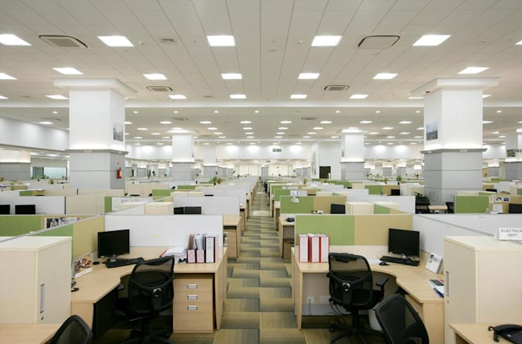 Interior Project:  Office buildings by Shriji Decor Pvt. Ltd.