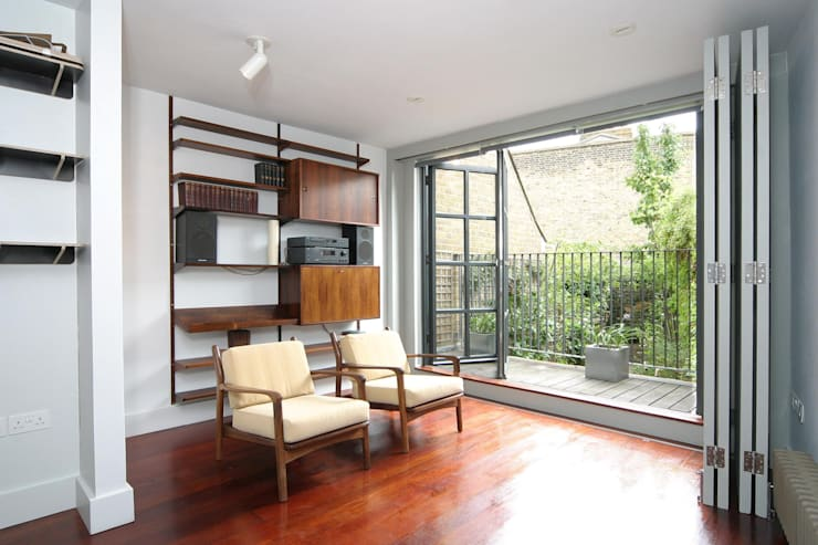 Salmon Lane—London:  Living room by Rural Office for Architecture