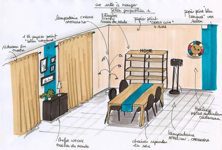 Projet salle à manger: Salon de style  par Atelier Inside
