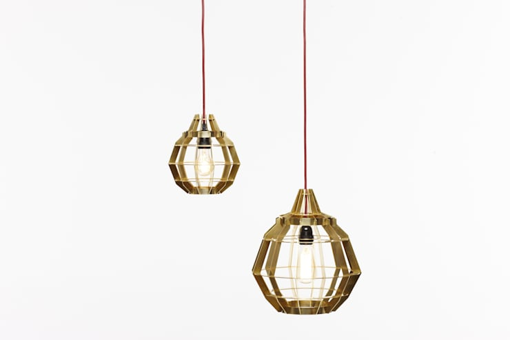 Cage Lamps:  Living room by Dare Studio