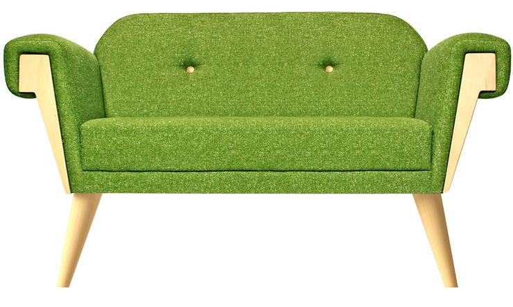 Hove Club Sofa Wooden Legs: moderne Wohnzimmer von homify