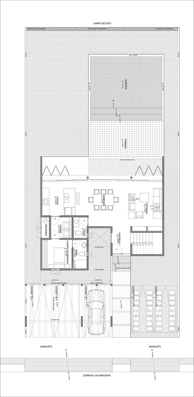 CASA CUERNAVACA:  de estilo  por gOO Arquitectos
