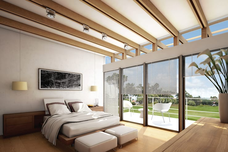 RECAMARA: Recámaras de estilo  por gOO Arquitectos