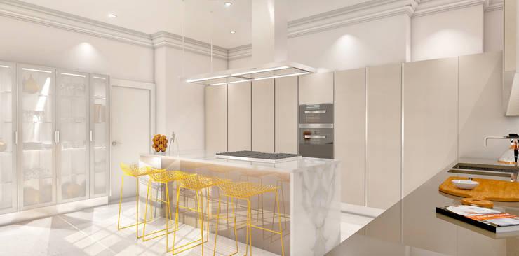 Projekty,  Kuchnia zaprojektowane przez Outsourcing Interior Design
