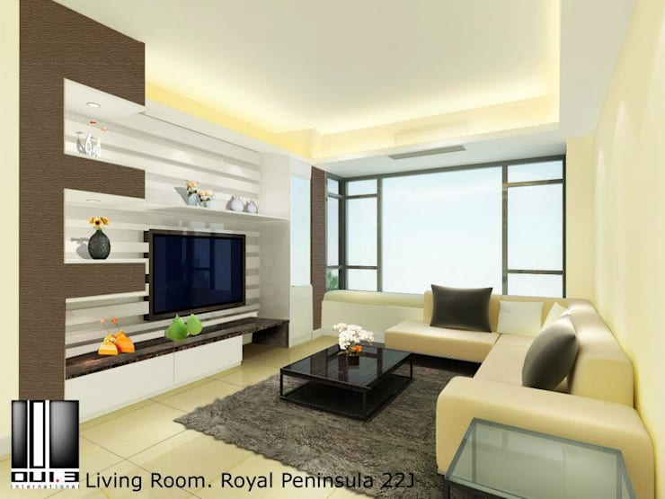 Living room:  Living room by Oui3 International Limited, Modern