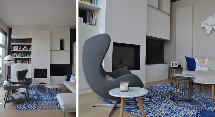 Salon - Duplex Boulogne: Salon de style  par A comme Archi