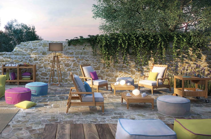 Essence Collection: Giardino in stile in stile Moderno di ATMOSPHERA | Soul of Outdoor