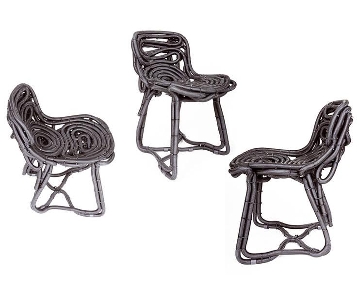 Chaise Tuyo: Salon de style de style eclectique par Padedesign