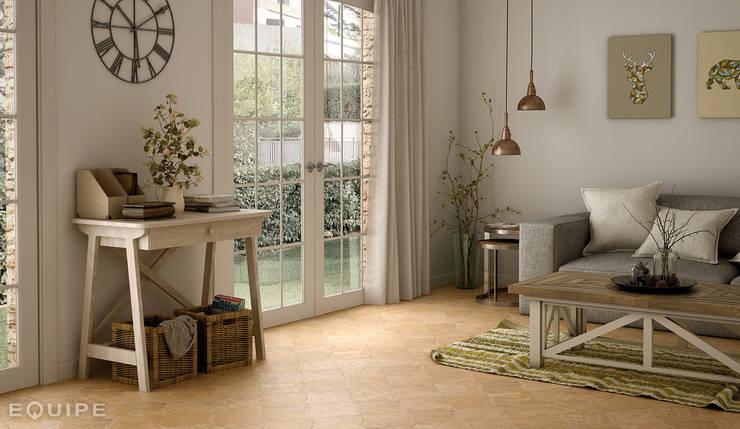 Salas / recibidores de estilo rústico por Equipe Ceramicas