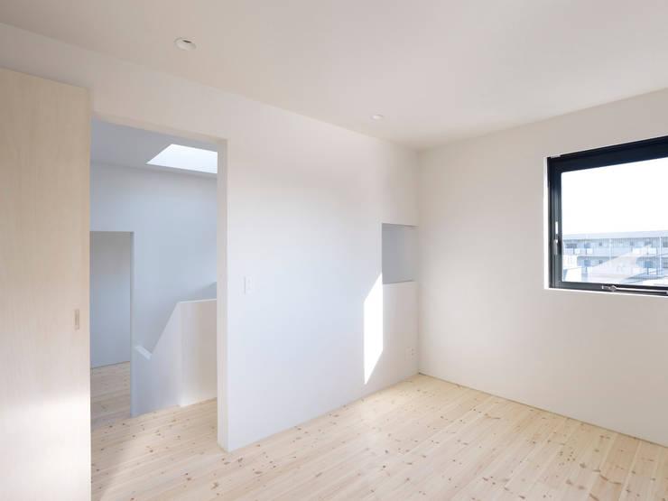 青戸の住宅: ハイランドデザイン一級建築士事務所が手掛けた寝室です。