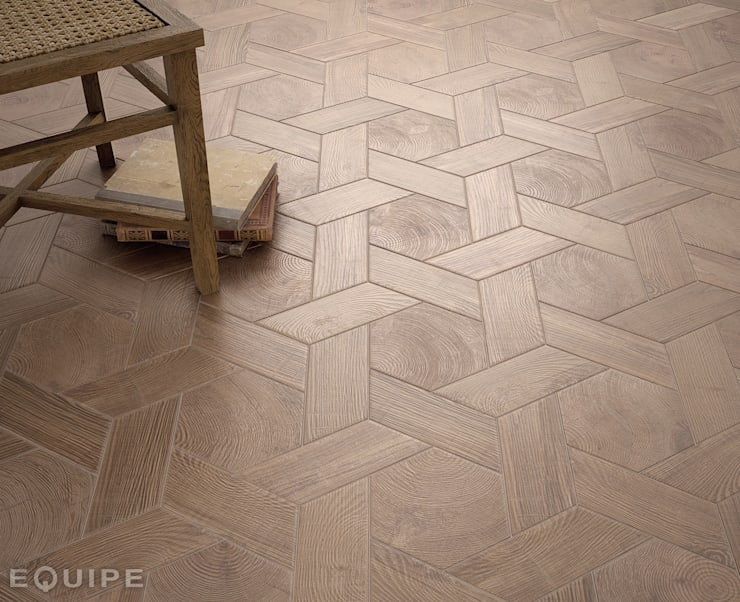 Hexawood Chevron Old: Paredes y suelos de estilo  de Equipe Ceramicas