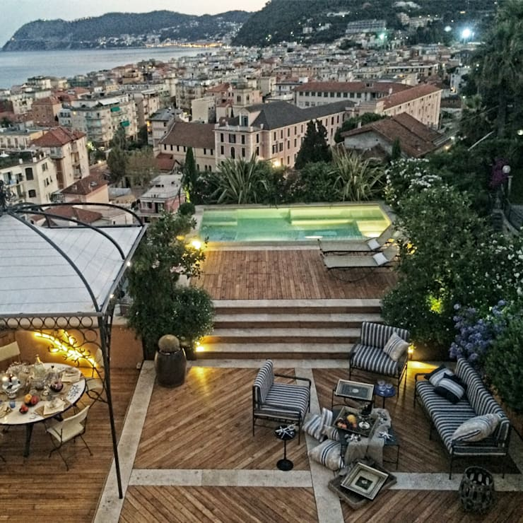 Villa B: Giardino in stile  di Studio S.O.A.P., Mediterraneo