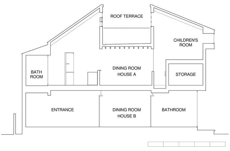 凹屋根の家 No.2: Jun Yashiki & Associatesが手掛けたです。