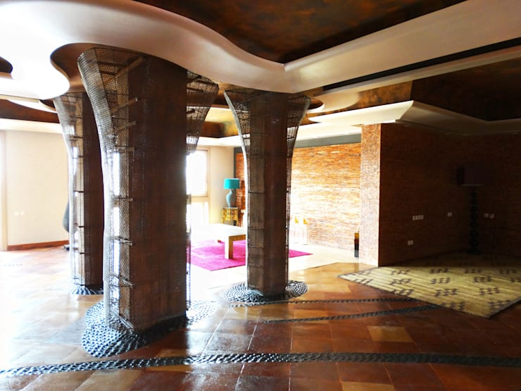 Riyadh House: Pasillos y recibidores de estilo  por arqflores / architect
