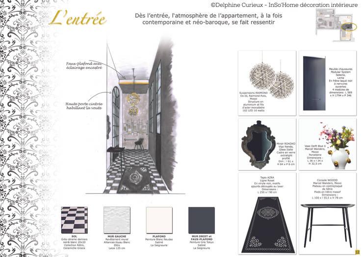 Carnet de détails Entrée: Couloir et hall d'entrée de style  par INSO'HOME Décoration Intérieure