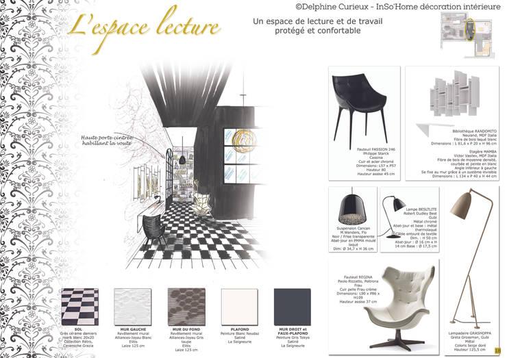 Carnet de détails espace lecture: Maison de style  par INSO'HOME Décoration Intérieure