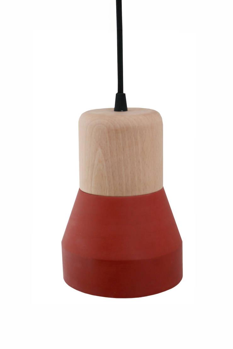 Cement Wood Lamp:  de style  par SPECIMEN Editions
