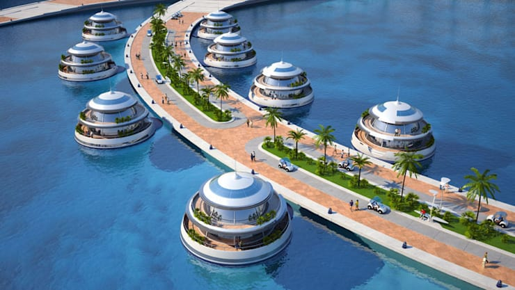 Amphibious 1000 Hotel moderni di Giancarlo Zema Design Group Moderno