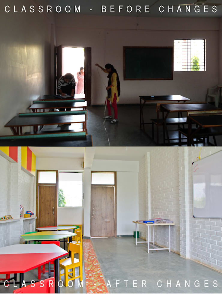 Classroom - before/after:   by M+P
