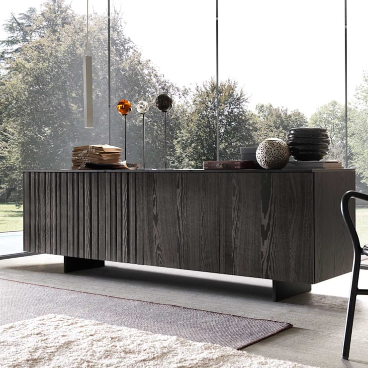 'Orchestra III' curved door design sideboard :  Dining room by My Italian Living