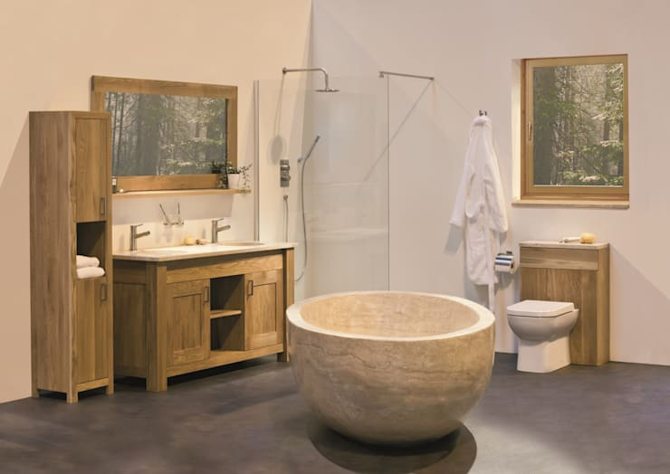 THE COMPLETE NATURAL BATHROOMS: modern Bathroom by Stonearth Interiors Ltd