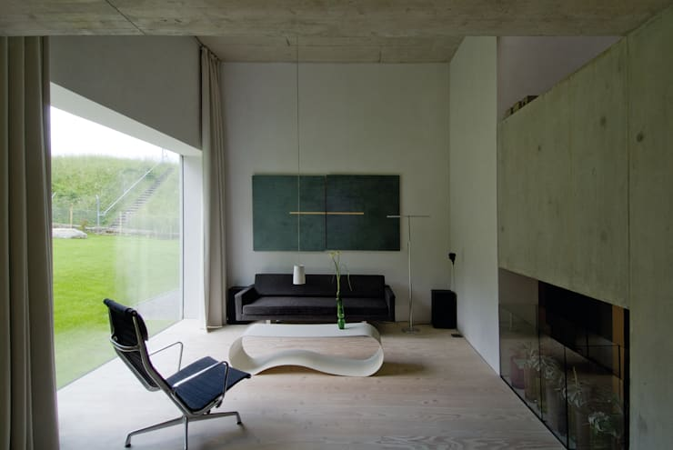 Projekty,  Salon zaprojektowane przez Halle 58 Architekten