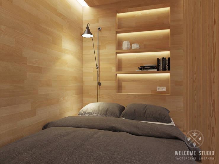 Общее пространство ракурс 3: Гостиная в . Автор – Мастерская дизайна Welcome Studio