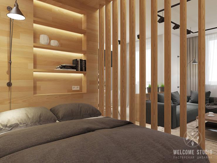 Общее пространство ракурс 4: Гостиная в . Автор – Мастерская дизайна Welcome Studio