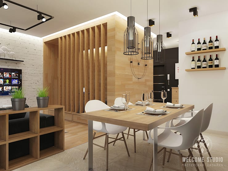 Общее пространство ракурс 8: Кухни в . Автор – Мастерская дизайна Welcome Studio