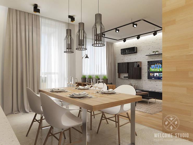 Общее пространство ракурс 9: Кухни в . Автор – Мастерская дизайна Welcome Studio