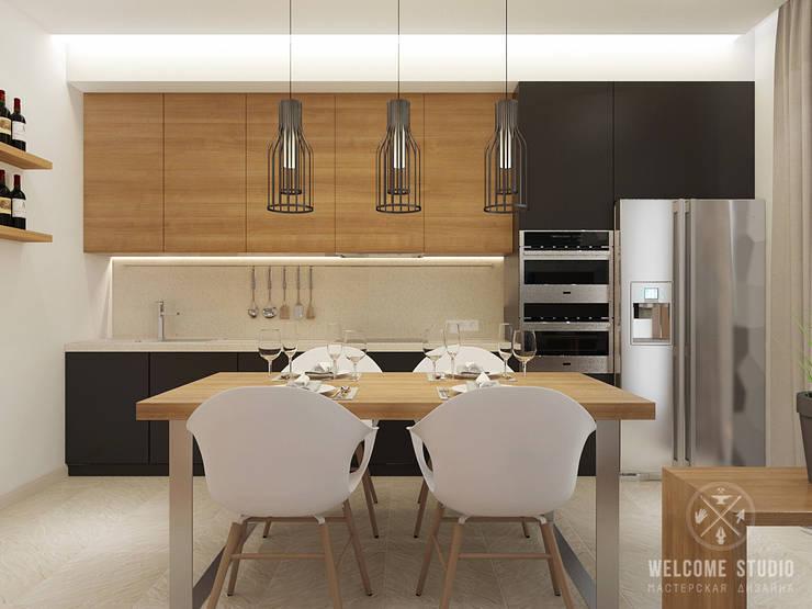 Общее пространство ракурс 10: Кухни в . Автор – Мастерская дизайна Welcome Studio