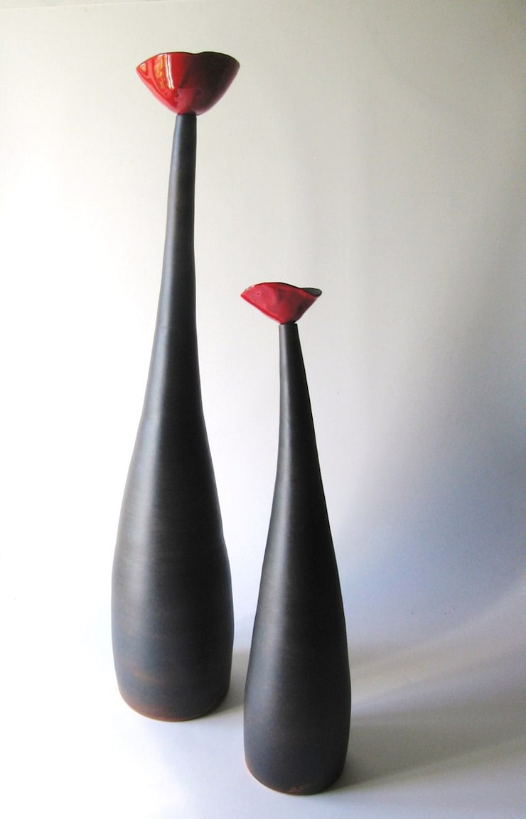 Soliflore coquelicot: Maison de style  par poterie Kohut