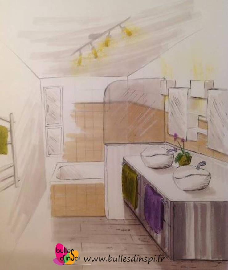 Projet de Relooking de salle de bains: Salle de bains de style  par Bulles d'Inspi