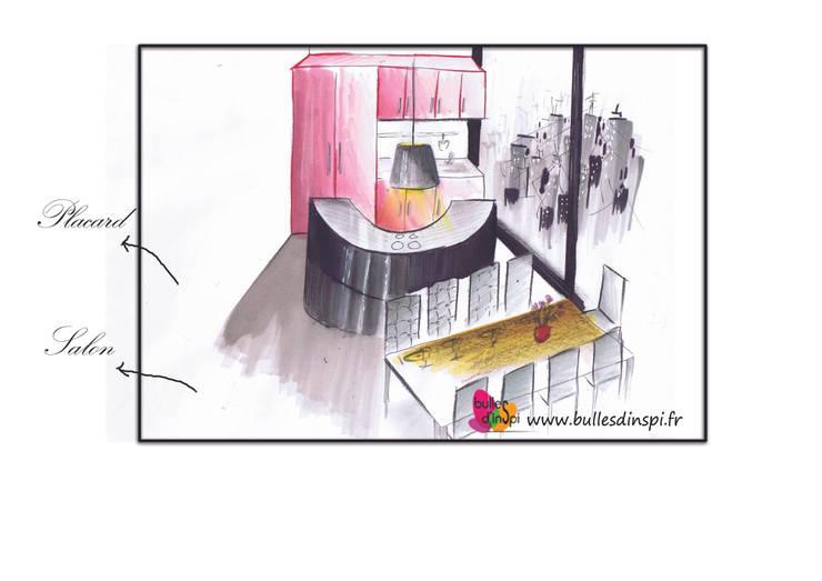 Aménagement d'une ancienne école en appartement d'habitation:  de style  par Bulles d'Inspi
