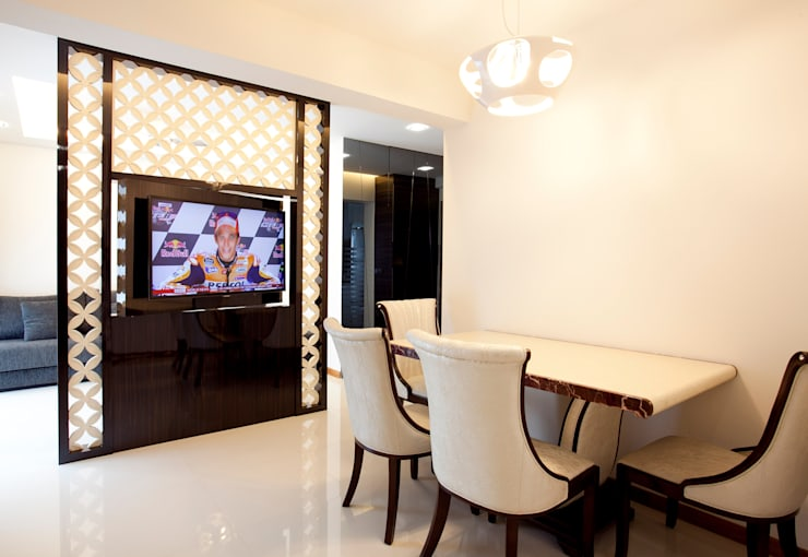 BTO Bukit Panjang:  Dining room by VOILÀ Pte Ltd