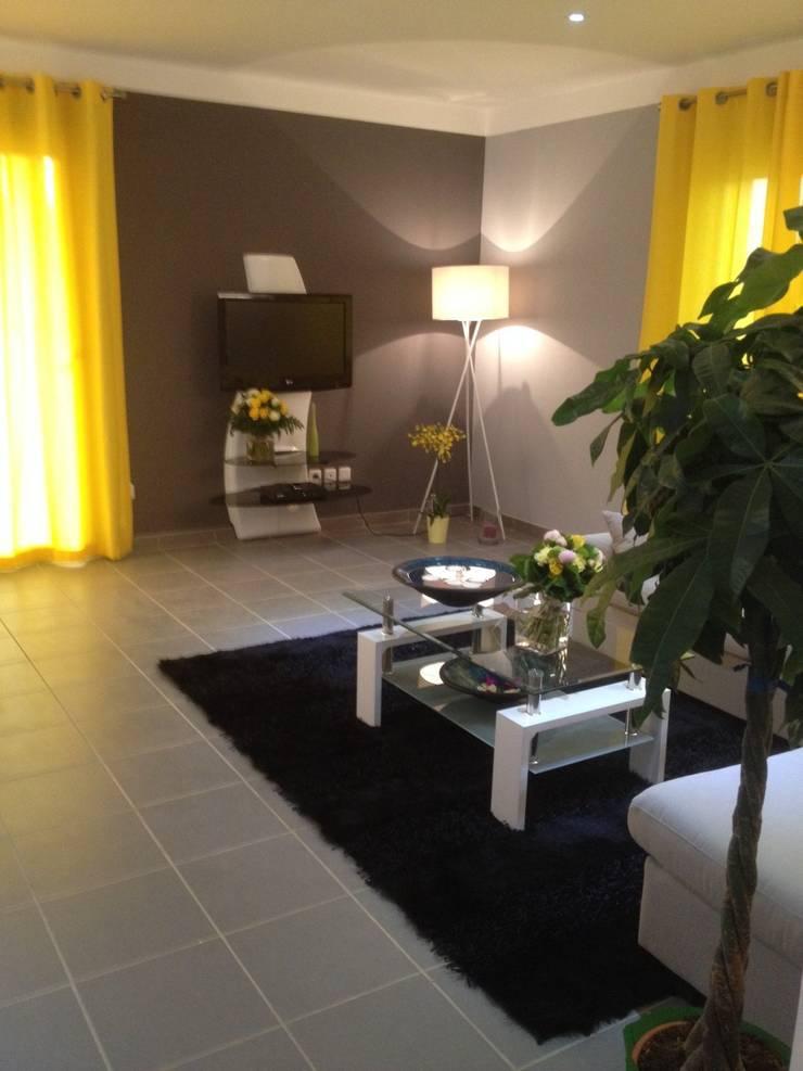 Maison Saint-Nazaire d'Aude: Salon de style de style Moderne par Adriana Art Déco