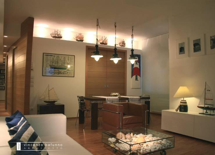 Casa Barca: Case in stile  di Vincenzo Bafunno ARCHITETTO