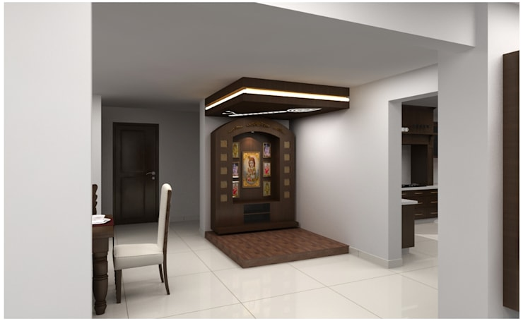 Pooja Room Houses By Neeras Design Studio